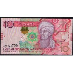 Turkmenistán 10 Manat Pk 31 (2.012) S/C