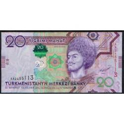 Turkmenistán 20 Manat Pk 32 (2.012) S/C