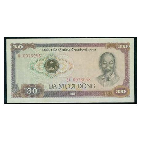 Vietnam 30 Dong PK 87 (1.981) MBC