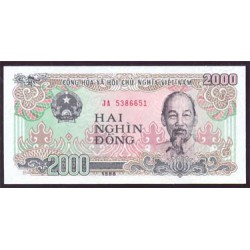 Vietnam 2.000 Dong PK 107 (1.988) S/C