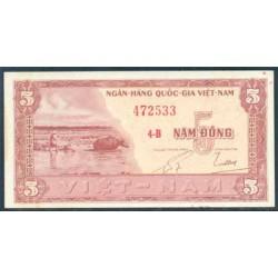 Vietnam del Sur 5 Dong PK 13 (1.955) MBC