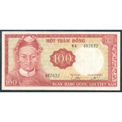 Vietnam del Sur 100 Dong PK 19b (1.966) MBC