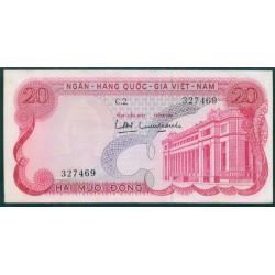 Vietnam del Sur 20 Dong PK 24 (1.969) S/C-