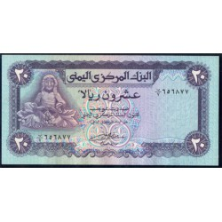 Yemen (Rep. Arábica) 20 Rials Pk 19b (1.985) S/C