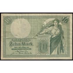 Alemania 10 Marcos PK 9b (6-10-1.906) BC