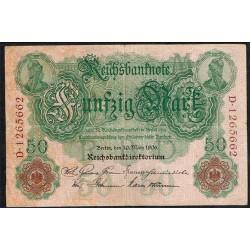 Alemania 50 Marcos PK 26 (10-3-1.906) BC