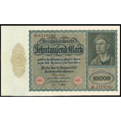 Alemania 10.000 Marcos PK 71 (19-1-1.922) EBC-