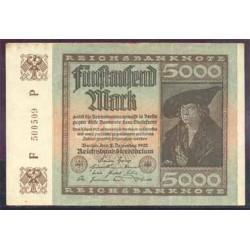 Alemania 5.000 Marcos PK 81 (2-12-1.922) EBC