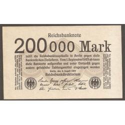 Alemania 200.000 Marcos PK 100 (9-8-1.923) EBC+