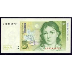 Alemania Federal 5 Marcos PK 37 (1-8-1.991) S/C