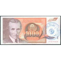 Bosnia-Herzegovina 1.000 Dinares PK 2b (1.992) S/C