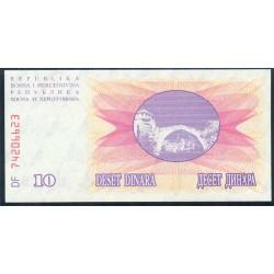 Bosnia-Herzegovina 10 Dinares PK 10 (1992) S/C