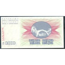 Bosnia-Herzegovina 1.000 Dinares PK 15 (1-7-1.992) S/C