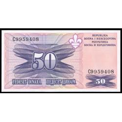 Bosnia-Herzegovina 50 Dinares PK 47 (1.995) S/C