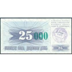 Bosnia-Herzegovina 25.000 Dinares PK 54c (24-12-1.993) S/C