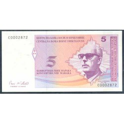 Bosnia-Herzegovina 5 Convertible Marka PK 62 (1.998) S/C
