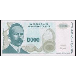 Bosnia-Herzegovina 100.000.000 Dinares PK 154 (1.993) S/C