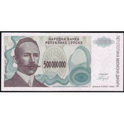 Bosnia-Herzegovina 500.000.000 Dinares PK 155 (1.993) S/C