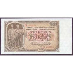 Checoslovaquia 100 Coronas Pk 86a (1.953) S/C