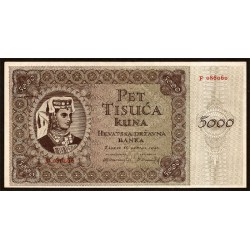 Croacia 5.000 Kuna Pk 14 (15-7-1.943 ) S/C-