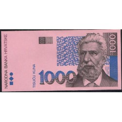 Croacia 1.000 Kuna Prueba Impresión PK 35 (31-10-1.993) S/C