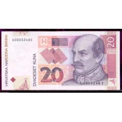 Croacia 20 Kuna PK 39 (7-3-2.001) S/C