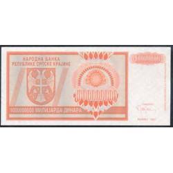 Croacia (Krajina) 1.000 Millones de Dinares Pk R17 (1.993) S/C