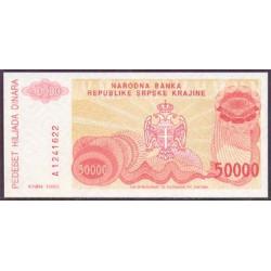 Croacia (Krajina) 50.000 Dinares Pk R21 (1.993) S/C
