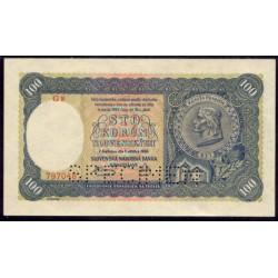 Eslovaquia 100 Coronas PK 11s (7-10-1.940) S/C