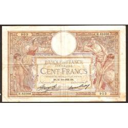 Francia 100 Francos PK 78c (1.933) MBC-
