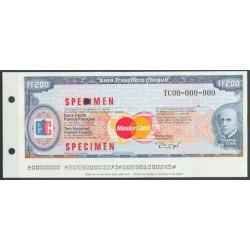 Francia 200 Francos (Euro Cheque) S/C