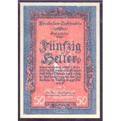 Liechtenstein 50 Heller PK 3 (1.920) S/C