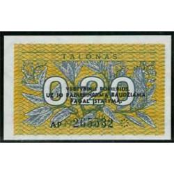 Lituania 0,20 Talonas PK 30 (1991) S/C