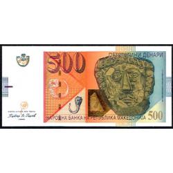 Macedonia 500 Dinares PK 21c (1-2.009) S/C