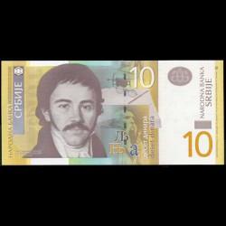 Serbia 10 Dinares PK 46a (2.006) S/C