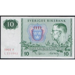Suecia 10 Coronas PK 52b (1.968) S/C