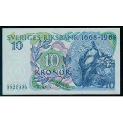 Suecia 10 Coronas PK 56 (1.968) S/C