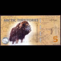 Territorios Articos 5 Dólares (2.012) S/C