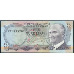 Turquía 5 Liras PK 185 (1.976) S/C