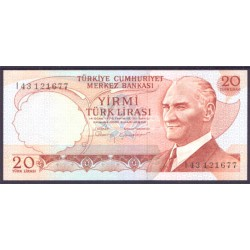 Turquía 20 Liras PK 187b (1.970) S/C