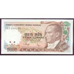 Turquía 5.000 Liras PK 198 (1.970) S/C