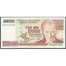 Turquía 100.000 Liras PK 206 (1.970) S/C