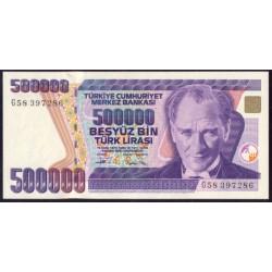 Turquía 500.000 Liras PK 208 (1.992) S/C