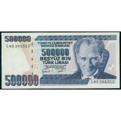 Turquía 500.000 Liras PK 212 (2.002) S/C