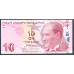 Turquía 10 Liras PK 223 (2.009) S/C