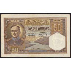 Yugoslavia 50 Dinares PK 28 (1-12-1.931) EBC (Manchas)