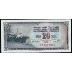 Yugoslavia 20 Dinares PK 85 (19-12-1.974) S/C