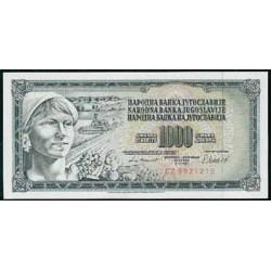 Yugoslavia 1.000 Dinares PK 92 d (1.981) S/C