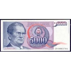 Yugoslavia 5.000 Dinares PK 93 a (1-5-1.985) S/C
