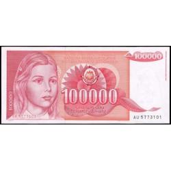 Yugoslavia 100.000 Dinares PK 97 (1-5-1.989) S/C